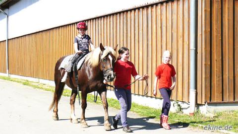 Pony reiten am Kindergeburtstag