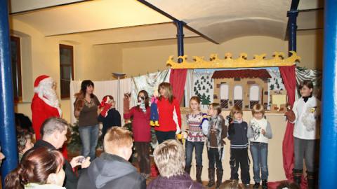Puppentheater Generalprobe zum 1. Advent
