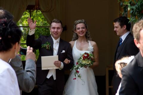Glückwünsche für das Brautpaar